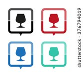 wine glass   vector icon  map...