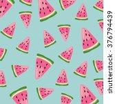 watermelon vector pattern | Shutterstock .eps vector #376794439