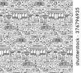 vector illustration of seamless ... | Shutterstock .eps vector #376796935
