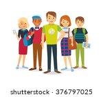 vector group of international... | Shutterstock .eps vector #376797025