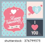 happy valentines day cards with ... | Shutterstock .eps vector #376799575