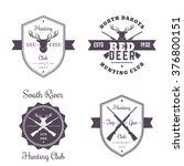 hunting club vintage logo ... | Shutterstock .eps vector #376800151