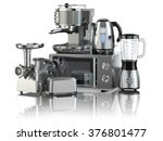 kitchen appliances. blender ... | Shutterstock . vector #376801477