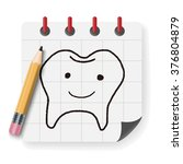 doodle tooth   Shutterstock .eps vector #376804879