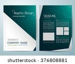 brochure design template vector.... | Shutterstock .eps vector #376808881