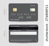 gray credit debit card design...   Shutterstock .eps vector #376808911