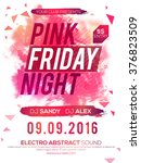 pink friday night party... | Shutterstock .eps vector #376823509