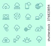 cloud computing  icons  thin...   Shutterstock .eps vector #376823854
