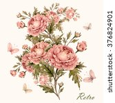 Watercolor Rose Bouquet With...