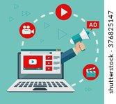 video marketing and digital... | Shutterstock .eps vector #376825147