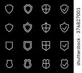 vector line shield icon set. | Shutterstock .eps vector #376827001