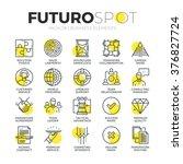 stroke line icons set of doing... | Shutterstock .eps vector #376827724