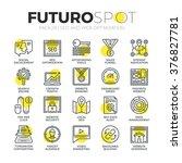 stroke line icons set of... | Shutterstock .eps vector #376827781