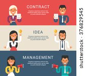 set of business concepts for... | Shutterstock .eps vector #376829545