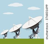 satellite dish array vector... | Shutterstock .eps vector #376831699
