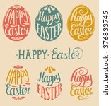 Vector Happy Easter Type Cards...