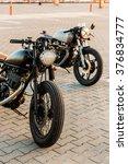 vintage custom motorbike... | Shutterstock . vector #376834777
