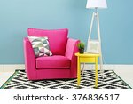 modern interior of room with...