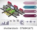 illustration of info graphic... | Shutterstock .eps vector #376841671