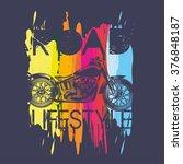 illustration i like motorcycles ...   Shutterstock .eps vector #376848187