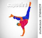 capoeira  sport  dance  brazil... | Shutterstock .eps vector #376848259