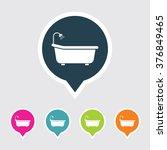very useful editable bath tub... | Shutterstock .eps vector #376849465