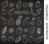 vector set of hand drawn... | Shutterstock .eps vector #376849561