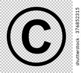 copyright sign. flat style icon ...   Shutterstock .eps vector #376852315