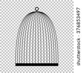 bird cage sign. flat style icon ... | Shutterstock .eps vector #376853497
