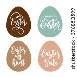 happy easter greeting card with ... | Shutterstock .eps vector #376853599