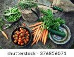 fresh organic vegetables. food... | Shutterstock . vector #376856071
