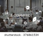 e commerce global business... | Shutterstock . vector #376861534