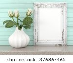 empty modern style frame  3d... | Shutterstock . vector #376867465