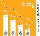 oil price falling down graph... | Shutterstock .eps vector #376867891