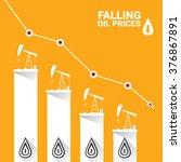 oil price falling down graph... | Shutterstock .eps vector #376867891