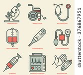 assorted medical devices... | Shutterstock .eps vector #376867951