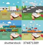 set of the transportation...   Shutterstock .eps vector #376871389