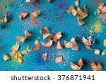pencil shavings background | Shutterstock . vector #376871941