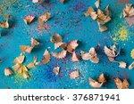 pencil shavings background | Shutterstock . vector #376871941