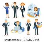 vector set of people  business  ... | Shutterstock .eps vector #376872445