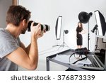 photographer shooting model in... | Shutterstock . vector #376873339
