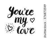 'you're my love' hand brush... | Shutterstock . vector #376873549