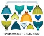 vector set of different monofin.... | Shutterstock .eps vector #376874239