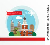 philadelphia  detailed... | Shutterstock .eps vector #376875319