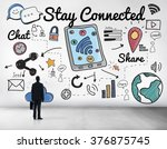 stay connected network online... | Shutterstock . vector #376875745