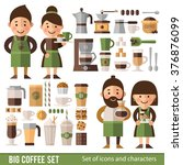 set of characters and icons in... | Shutterstock .eps vector #376876099