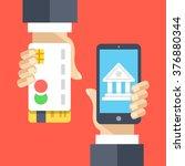mobile banking  internet...   Shutterstock .eps vector #376880344