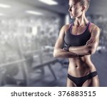 young beautiful athlete woman... | Shutterstock . vector #376883515