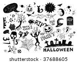 a collection of hand drawn... | Shutterstock .eps vector #37688605
