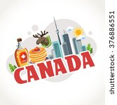travel text country canada | Shutterstock .eps vector #376886551